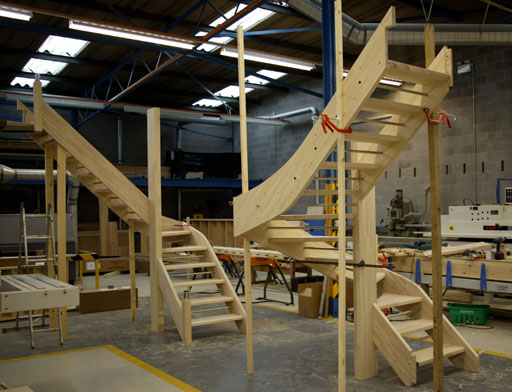 open riser staircases for fusion handrail