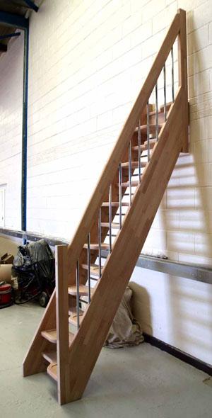 Beech 40 Spacesaver Staircase Openplan