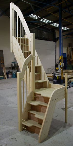 Quarter Turn budget Spacesaver Staircase