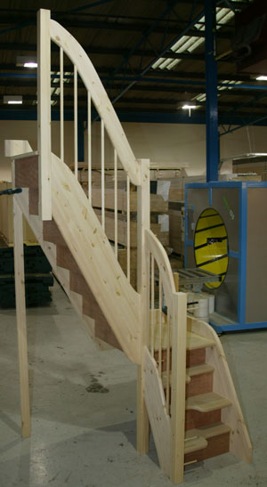 compact loft Quarter Turn Spacesaver Staircase