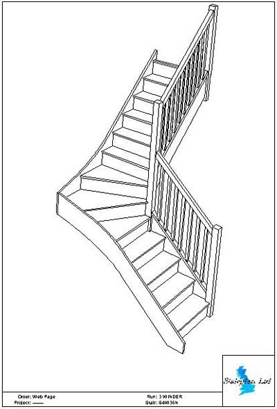Staircase Plans - Choose your staircase design then phone us