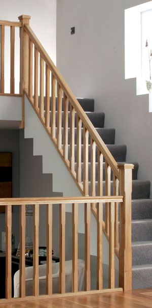 Staircase Specialists American White Oak Handrail